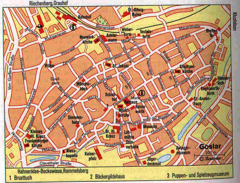 Goslar Karte.Goslar Stadt
